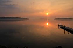 Sunset on Rice Lake