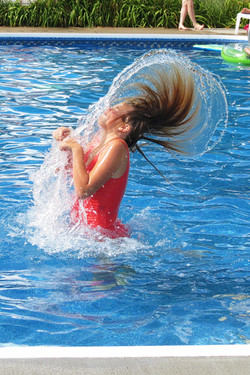 pool antics