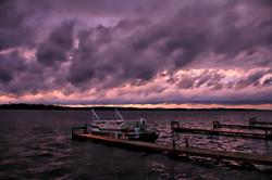 Stormy Rice Lake sky