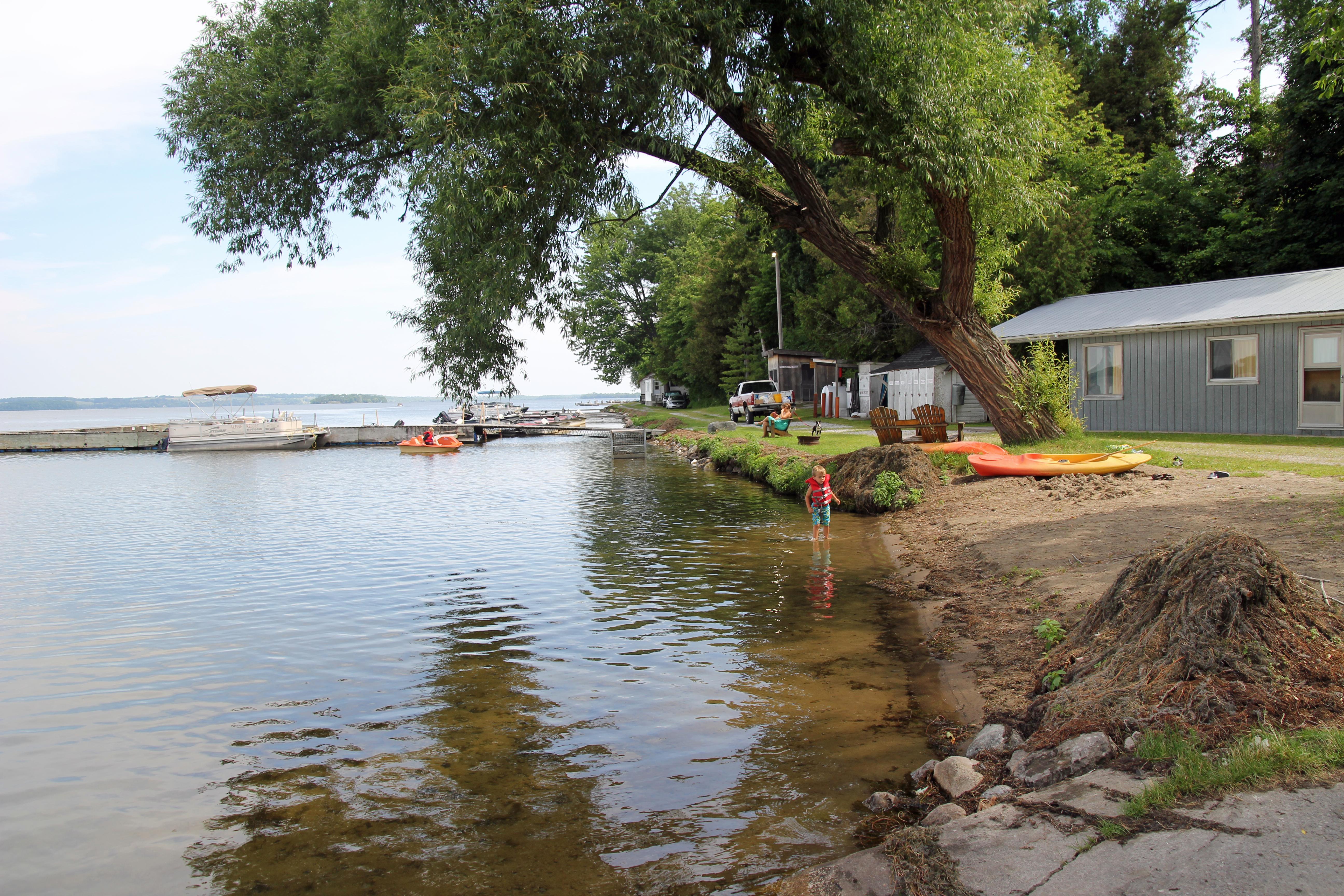 Cottage resort on Rice Lake, Ontario