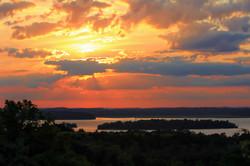 Sunset over Rice Lake