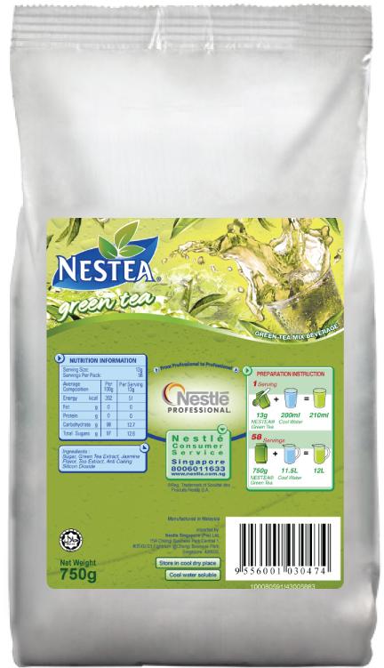NESTEA GREEN TEA 16 x 750g