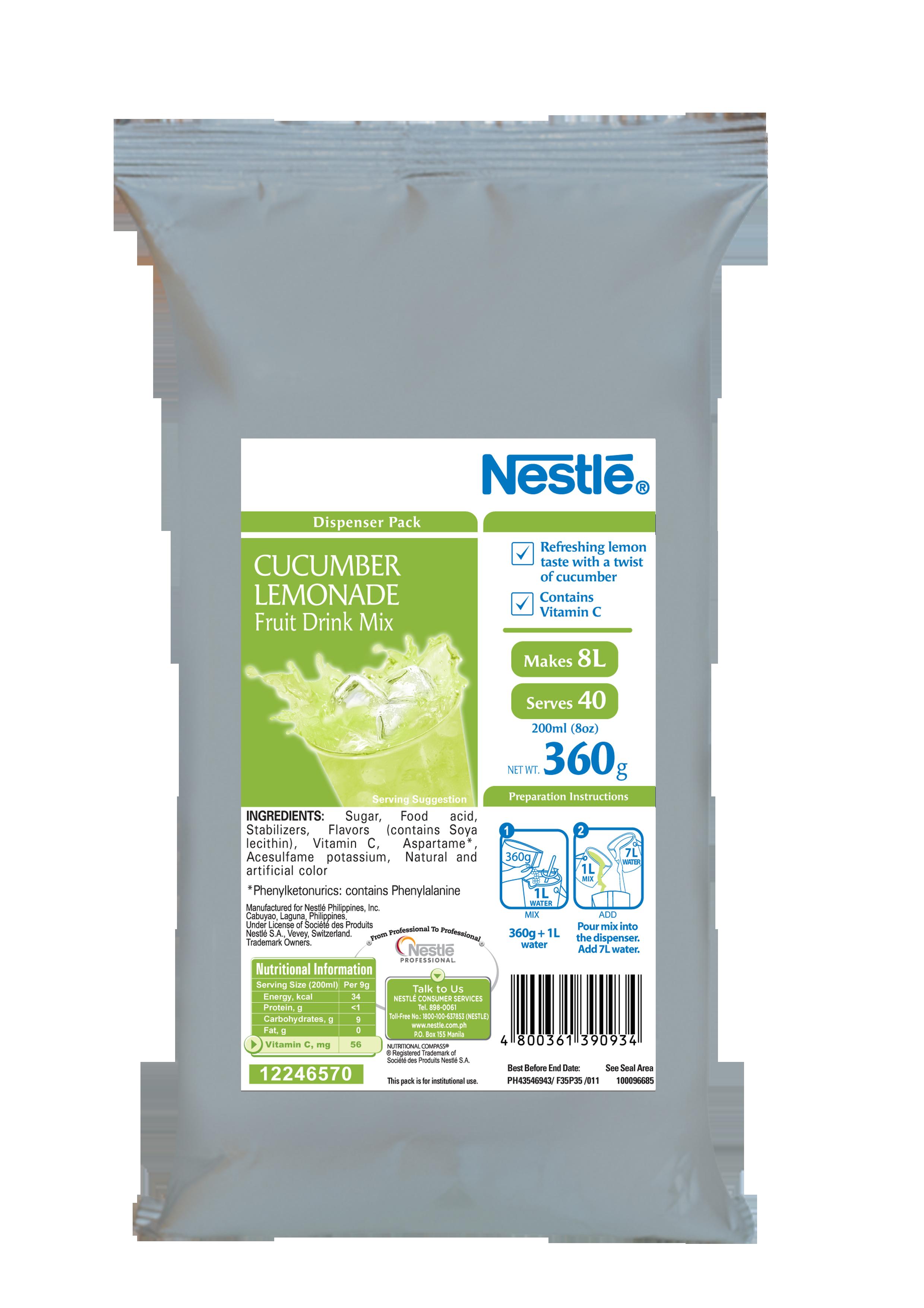 NESTLE NPro Cucumber Lemonade