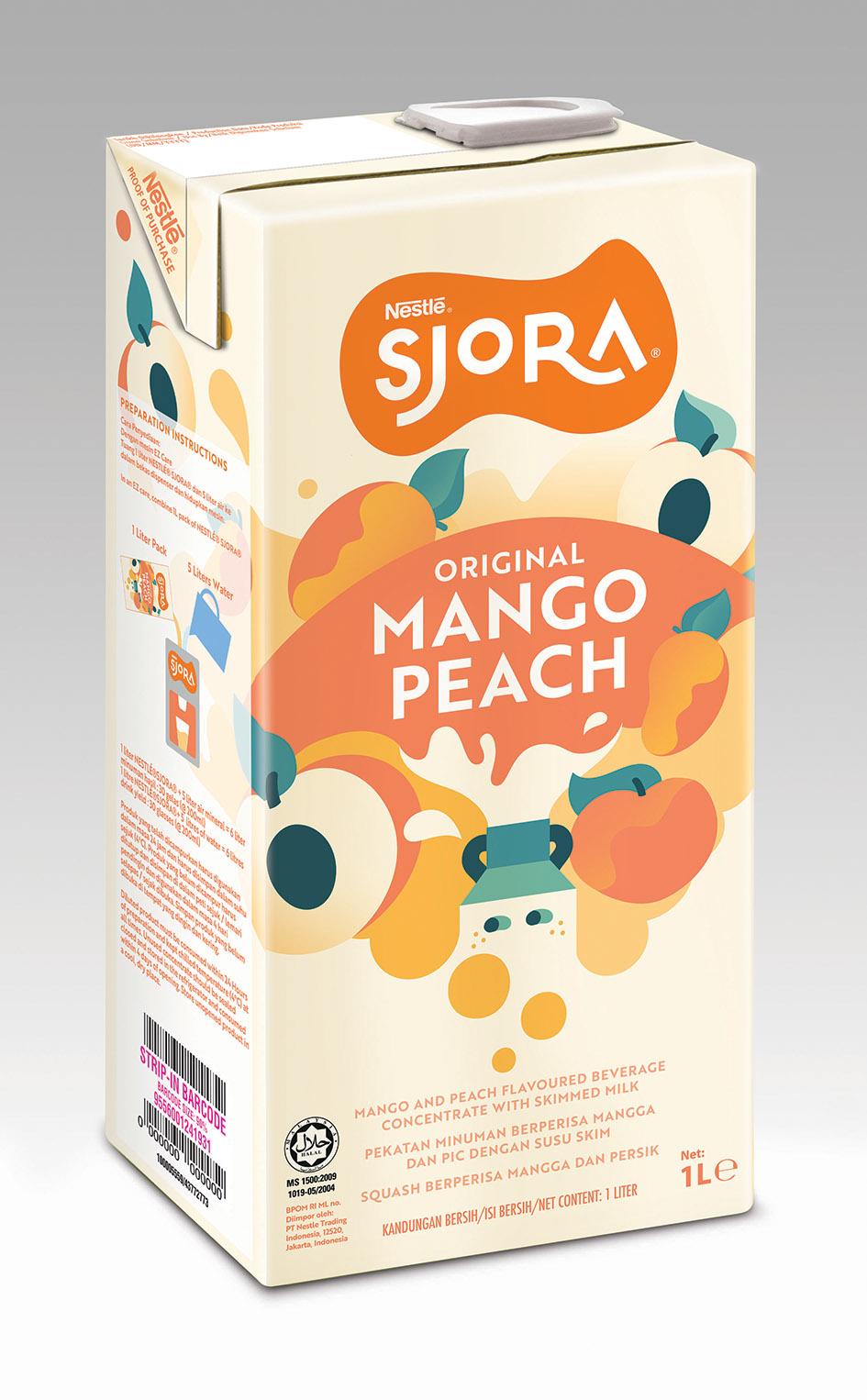 SJORA Mango Peach 1L_NewLogo