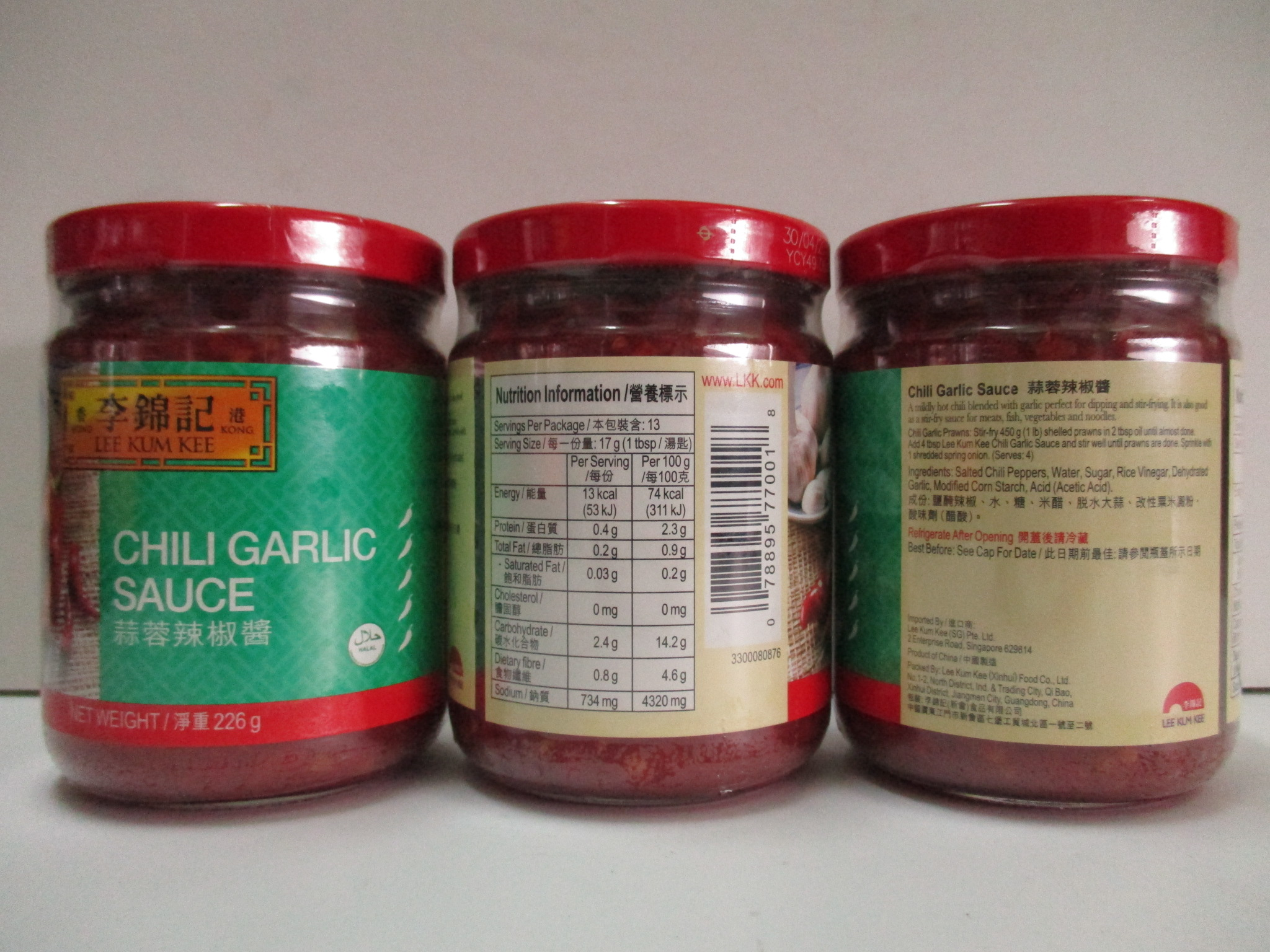 LKK Chili Garlic Sauce (12 x 226g)
