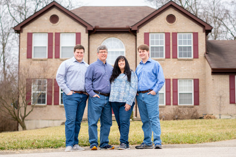 Family Photography with Adult Children in Batavia, Ohio
