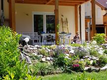 bloemige tuin