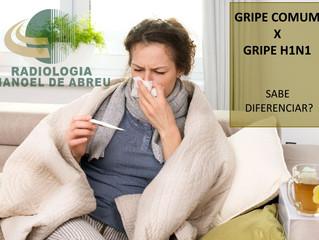 Saiba quais as diferenças entre a Gripe comum e a Gripe H1N1