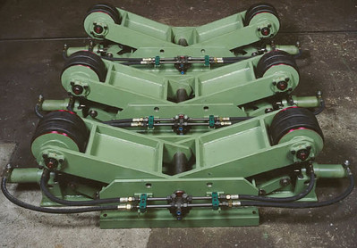 DEUMA turning rolls Type H, stationary design with lever