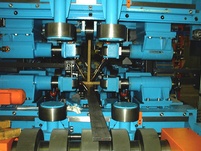 drive rollers within a continuous welding machine