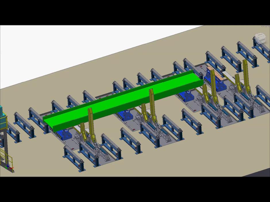 Simulation Beam Welding Production Line