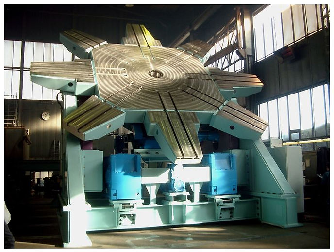 EUMA 200 ton Turning/Tilting Positioner with a c.o.g. of 1000 mm