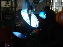 Robotic Equipment with Tandem Welding Equipment for the Welding of car wheels