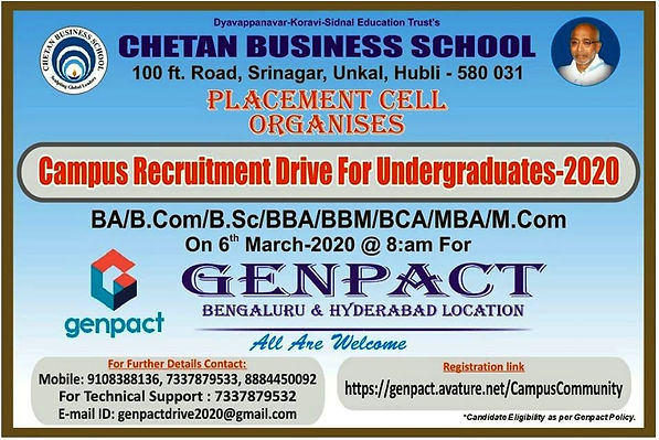 Chetan Genpact Campus Placement Drive