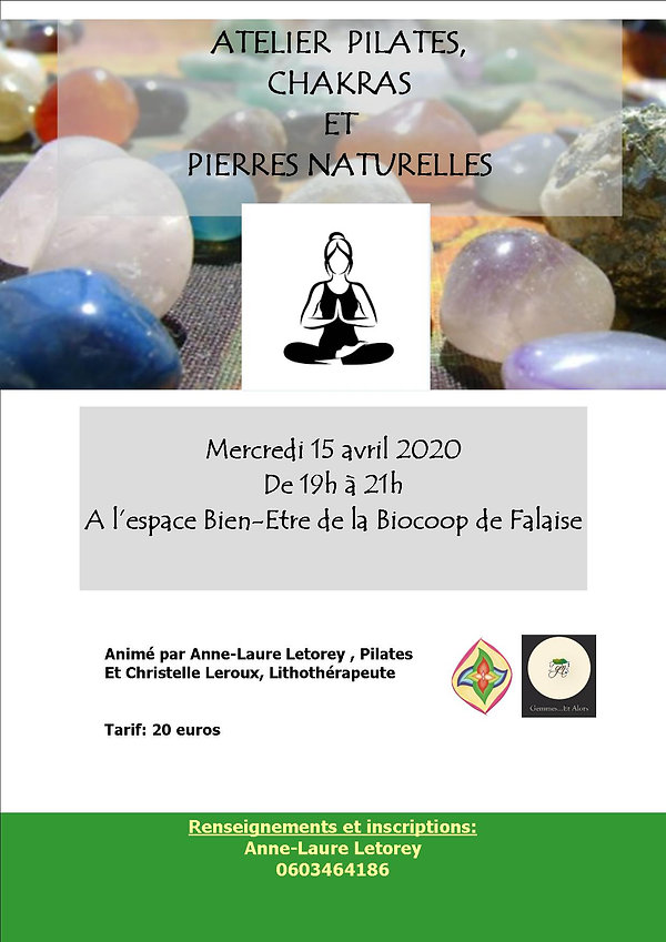 pilates, chakras et pierres naturelles.j