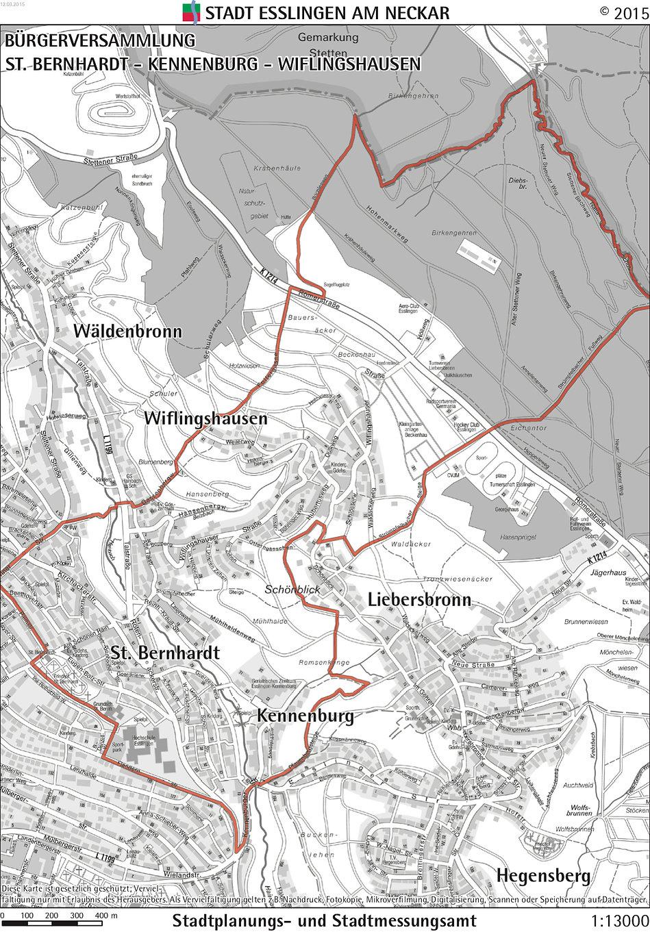 Gebietskarte St Bernhardt - Kennenburg -