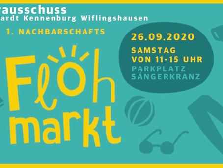 1. Nachbarschafts-Flohmarkt für                    St. Bernhardt, Kennenburg, Wiflingshausen