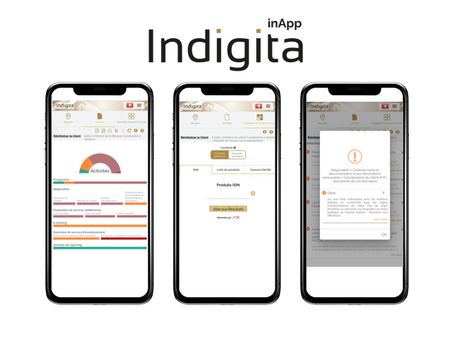 Indigita's inApp for cross-border, product/tax suitability controls is now available in French