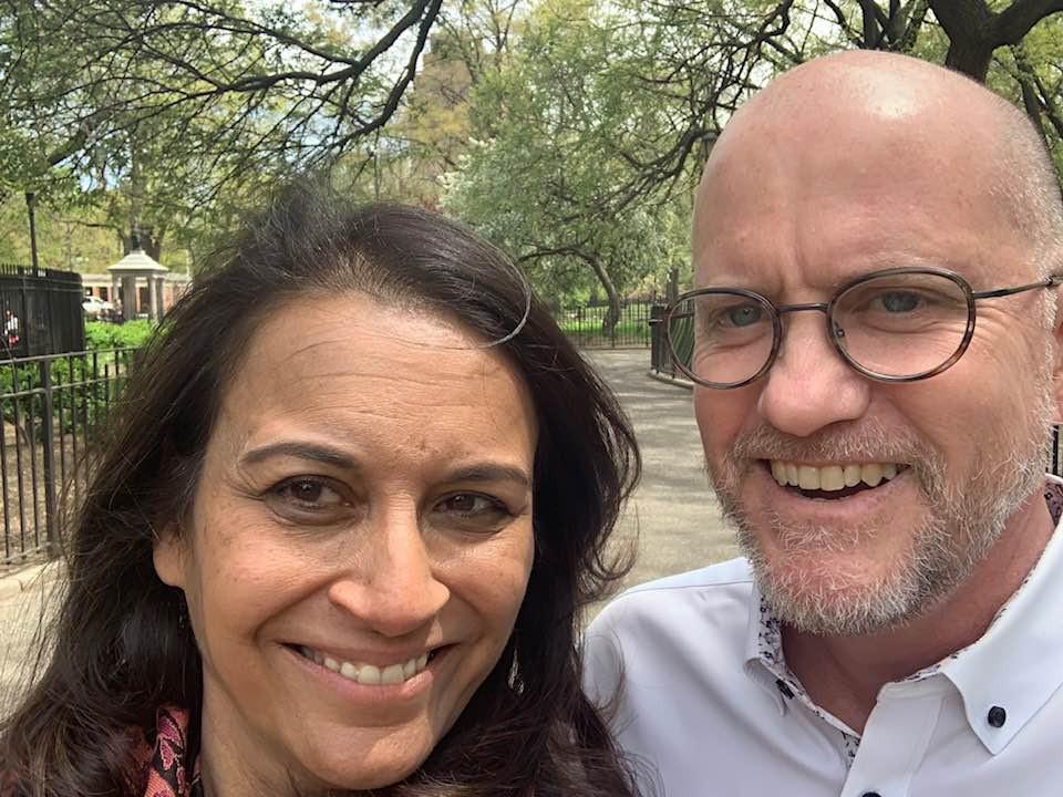 Sujata and her husband Tony