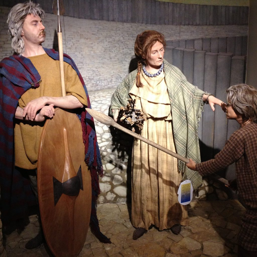 Model of an iron age family