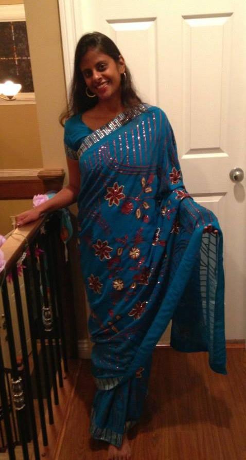 Ash in a sari