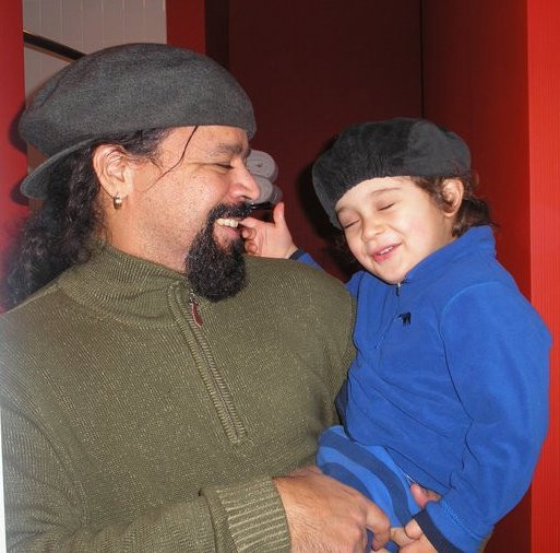 Jasnam with his son