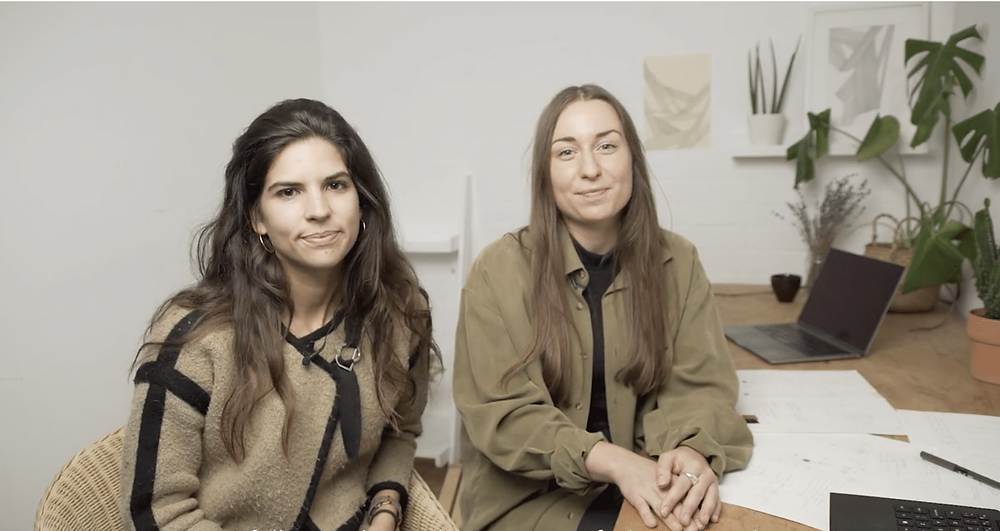 Aroa and Antonia, cofounders of Trace Collective