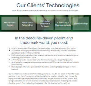 Our Clients' Technologies (Leber IP Law)