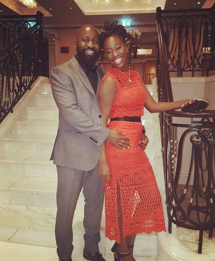 Ousman Touray with his wife Amie