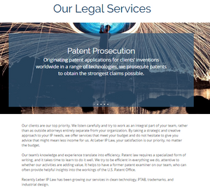 Our Legal Services (Leber IP Law)