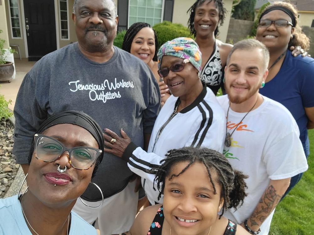 Amira and Sander with Amira's family