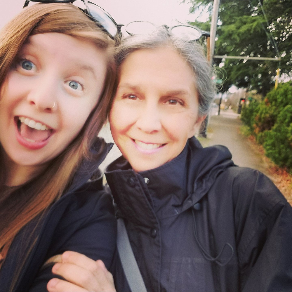 Katrina with her mom, Finding Fertile Ground Podcast