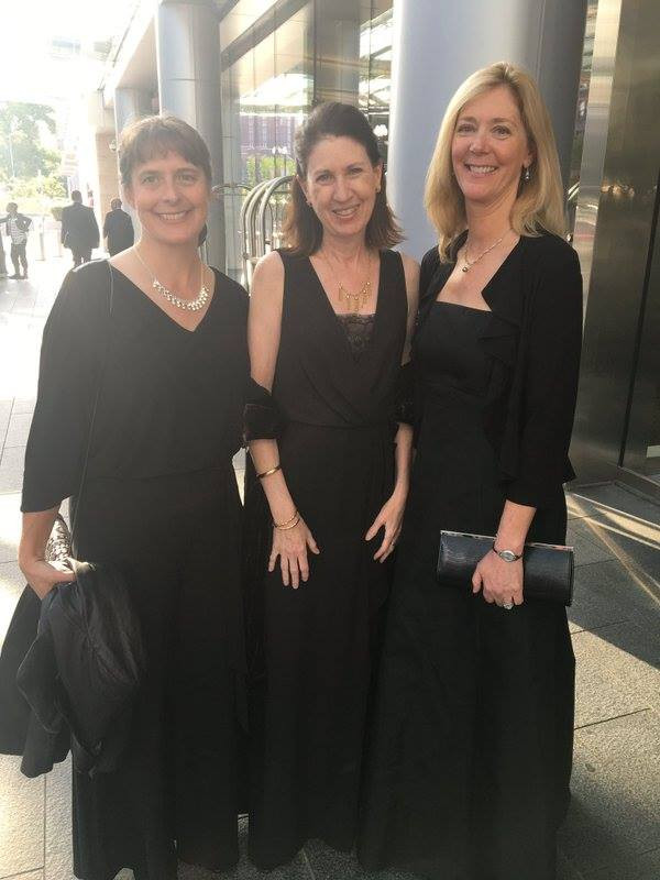 Elisa (middle) and Ellen (right) at the WEC awards     banquet, with Brandy Wilson, global sustainability director