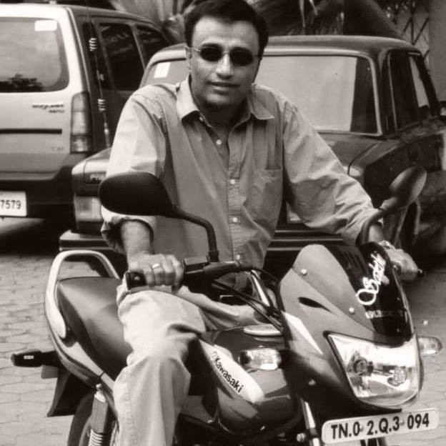 Sankar on a motorcycle | Finding Fertile Ground Podcast