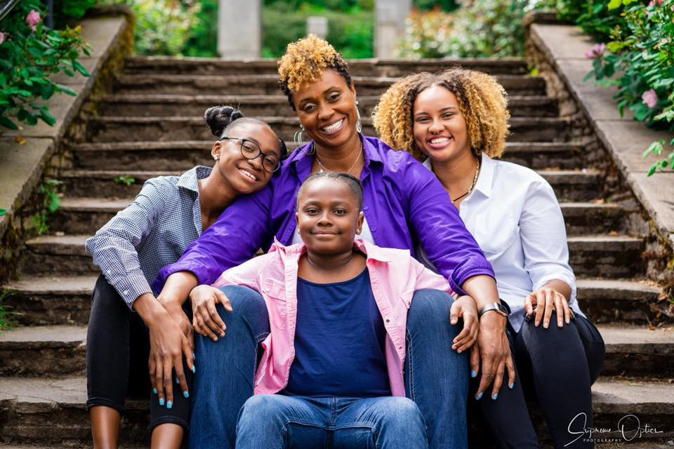 Libra Forde with her superpower daughters|Finding Fertile Ground Podcast