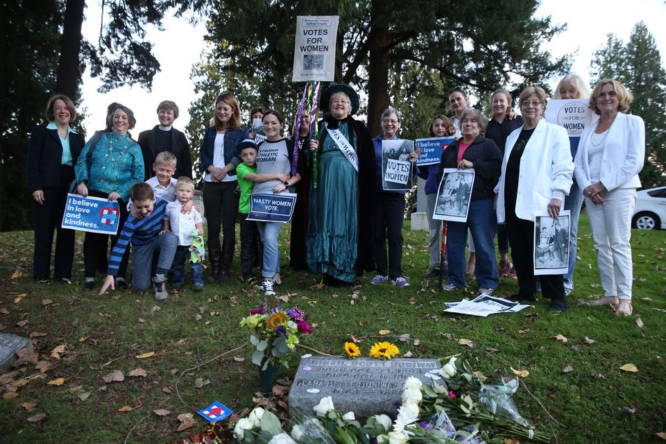 Visiting Abigail's grave on Election Day 2016