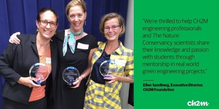 Ellen winning an award