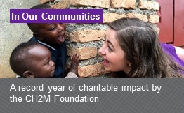Intranet article about a record year of charitable impact