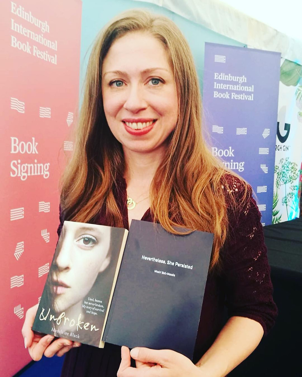 Chelsea Clinton with Unbroken