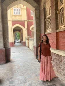 At historic office area in Colaba, Mumbai