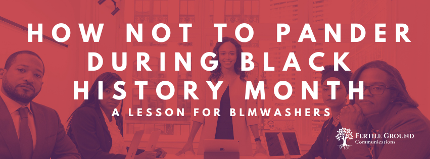 How not to pander during Black History Month