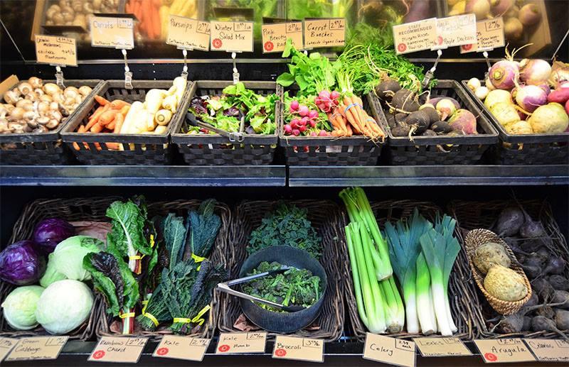 Veggies in the farm store