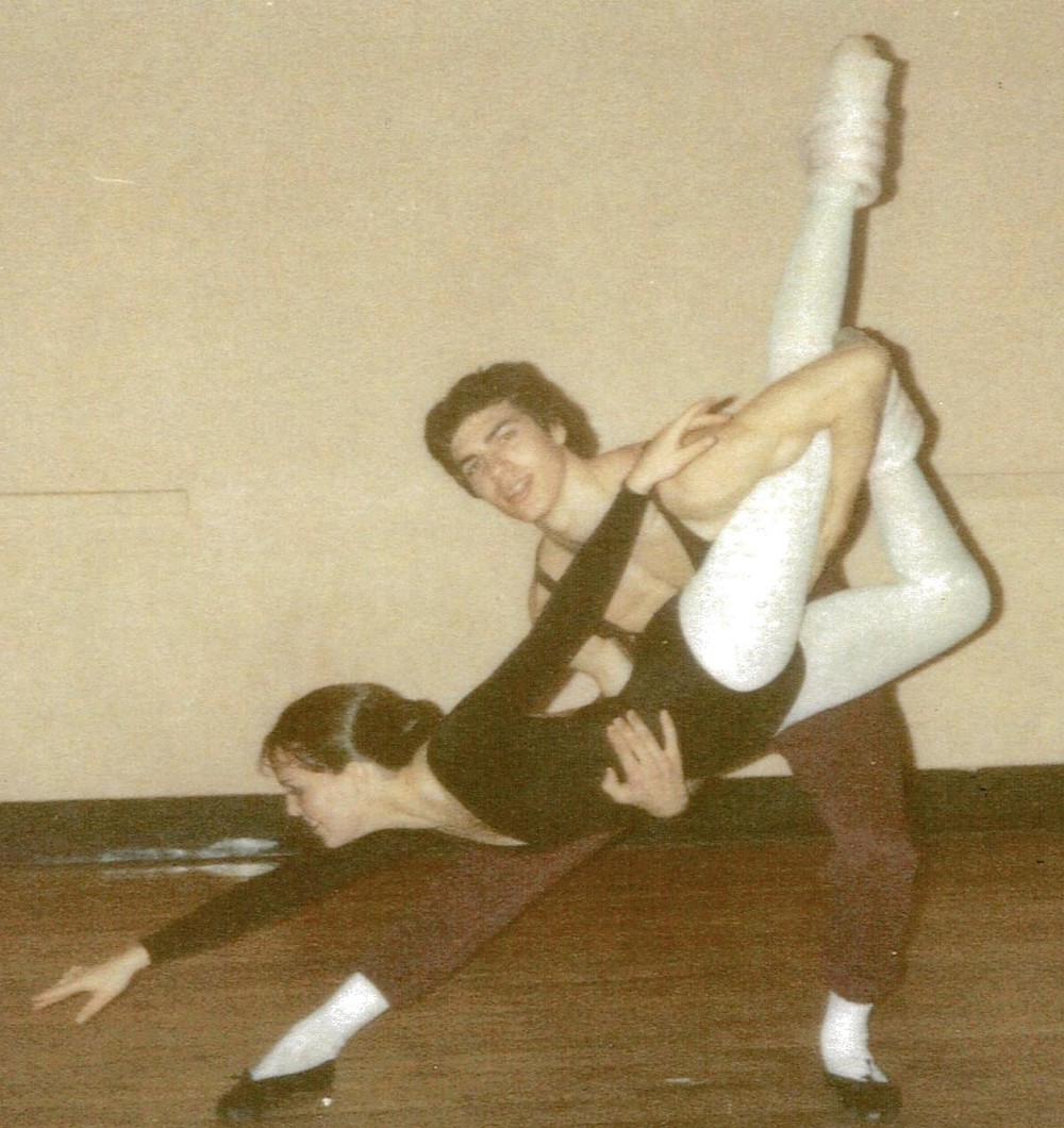 Cathy at age 18, studying ballet