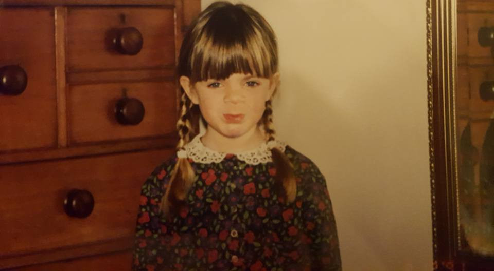 Harris as a child