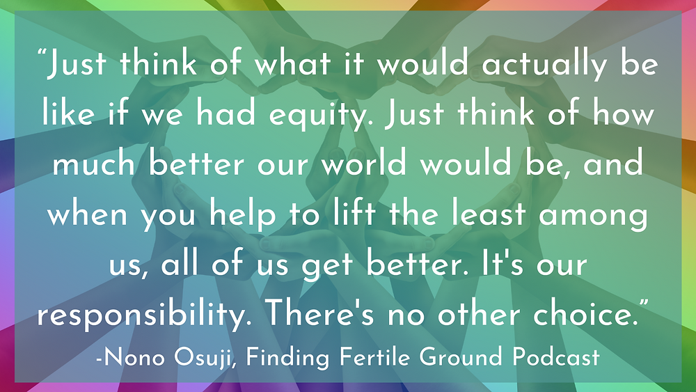 Quote by Nono Osuji on equity