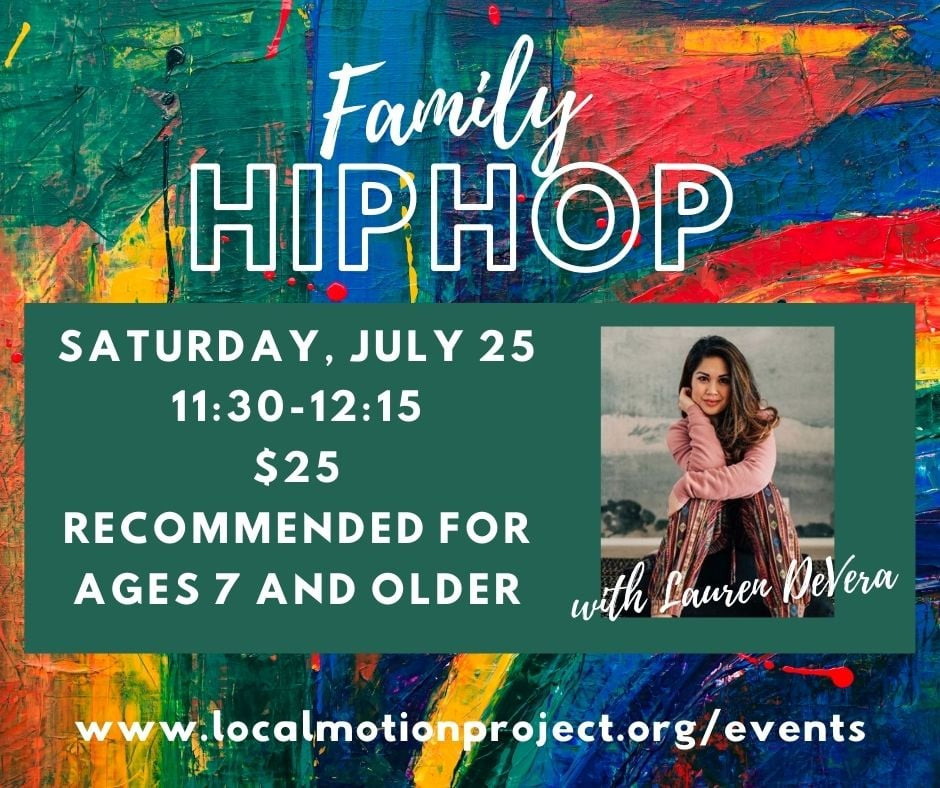 Family hip hop class ad