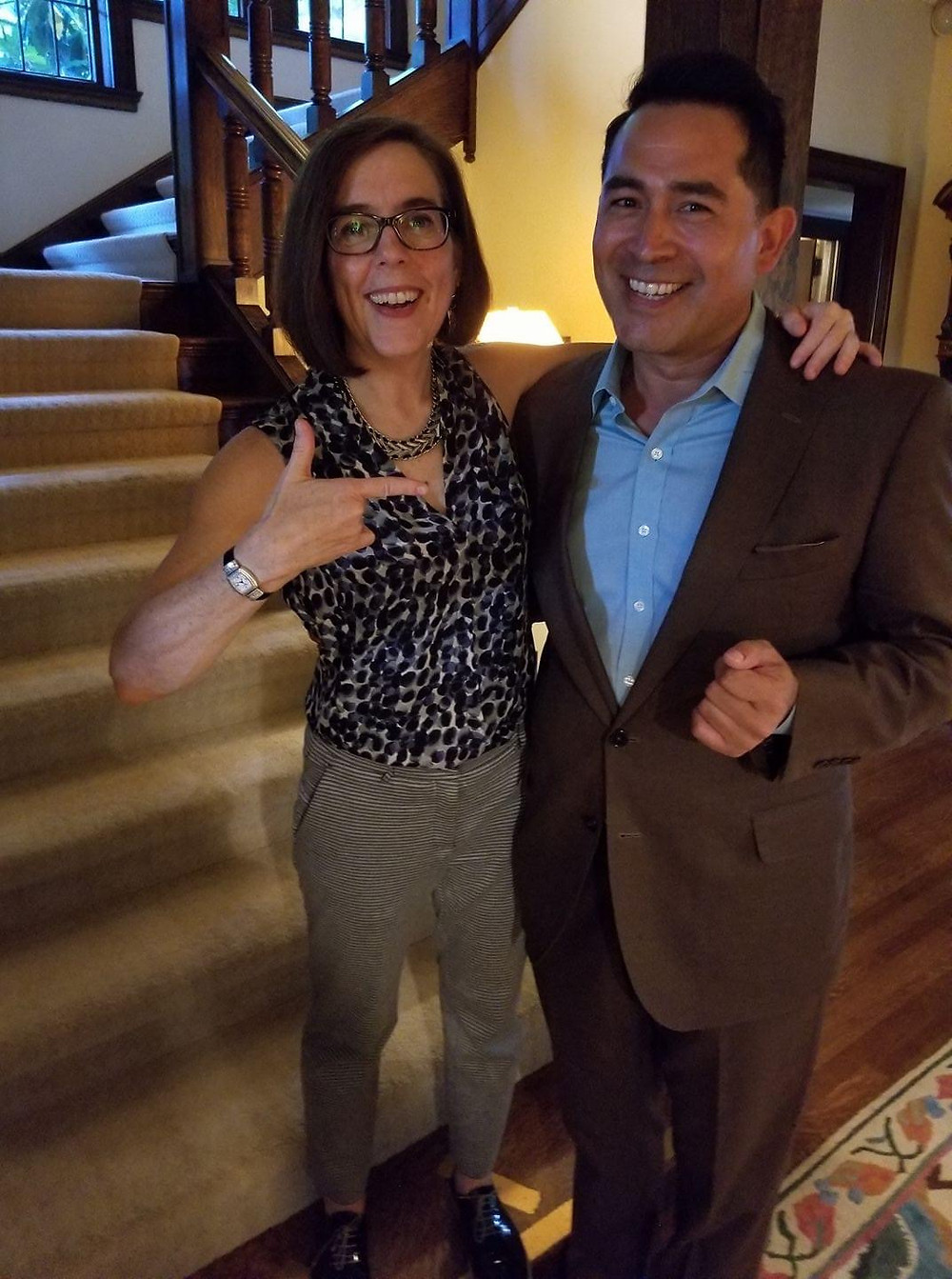 Governor Kate Brown and Ozzie Gonzalez
