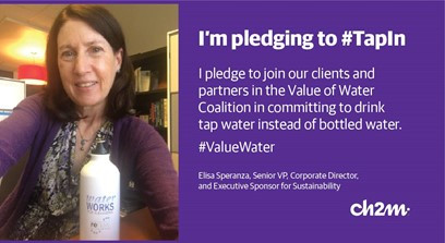 """Elisa """"tapping in"""" to support water"""