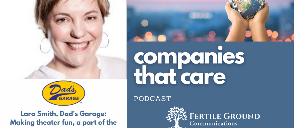 Lara Smith of Dad's Garage: Making theater fun, a part of the community, and financially sustainable