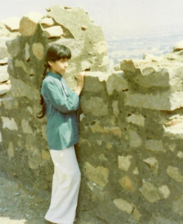 Sujata at age 9 at Golconda Fort in India